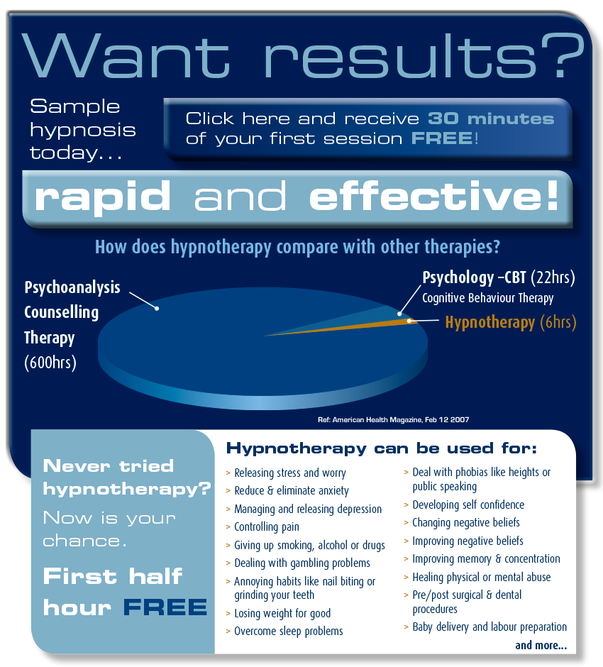 Hypnotherapy offer